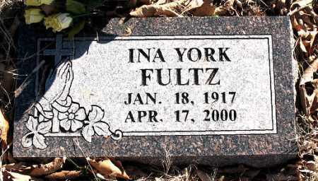 FULTZ, INA  YORK - Carroll County, Arkansas | INA  YORK FULTZ - Arkansas Gravestone Photos