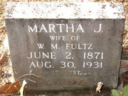 FULTZ, MARTHA J. - Carroll County, Arkansas | MARTHA J. FULTZ - Arkansas Gravestone Photos