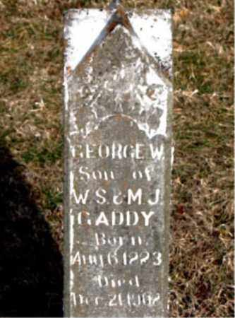 GADDY, GEORGE W - Carroll County, Arkansas | GEORGE W GADDY - Arkansas Gravestone Photos