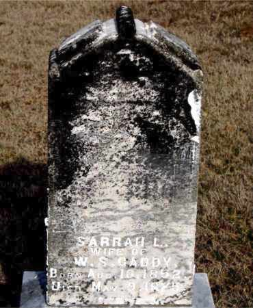 GADDY, SARRAH L - Carroll County, Arkansas | SARRAH L GADDY - Arkansas Gravestone Photos