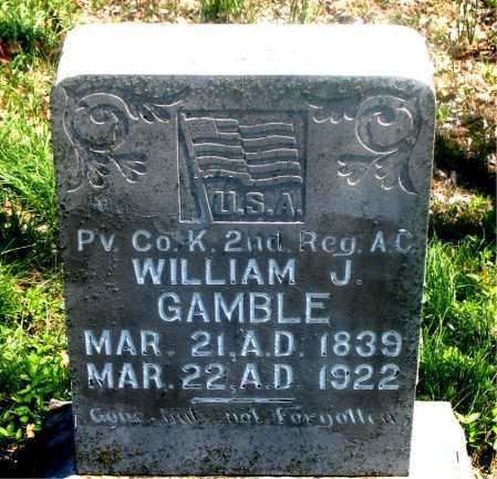 GAMBLE (VETERAN CSA), WILLIAM J - Carroll County, Arkansas | WILLIAM J GAMBLE (VETERAN CSA) - Arkansas Gravestone Photos