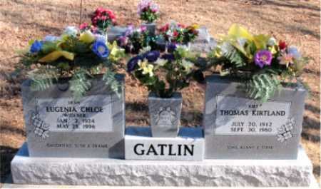 GATLIN, EUGENIA - Carroll County, Arkansas | EUGENIA GATLIN - Arkansas Gravestone Photos