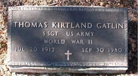GATLIN  (VETERAN WWII), THOMAS KIRTLAND - Carroll County, Arkansas | THOMAS KIRTLAND GATLIN  (VETERAN WWII) - Arkansas Gravestone Photos