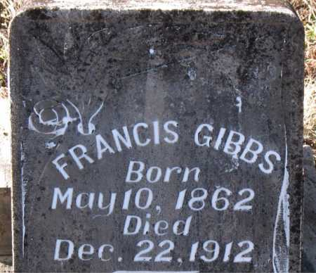 GIBBS, FRANCIS - Carroll County, Arkansas | FRANCIS GIBBS - Arkansas Gravestone Photos