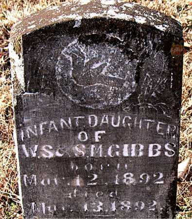 GIBBS, INFANT DAUGHTER - Carroll County, Arkansas | INFANT DAUGHTER GIBBS - Arkansas Gravestone Photos