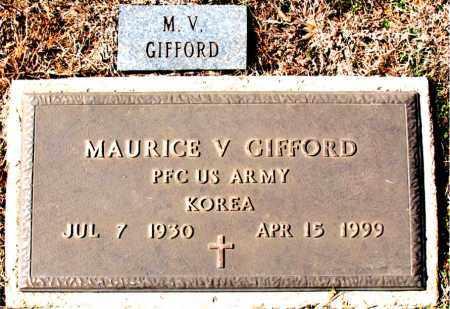 GIFFORD (VETERAN KOR), MAURICE V - Carroll County, Arkansas | MAURICE V GIFFORD (VETERAN KOR) - Arkansas Gravestone Photos