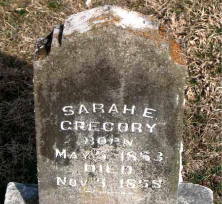 GREGORY, SARAH  E. - Carroll County, Arkansas | SARAH  E. GREGORY - Arkansas Gravestone Photos