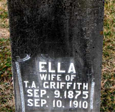 GRIFFITH, ELLA - Carroll County, Arkansas | ELLA GRIFFITH - Arkansas Gravestone Photos
