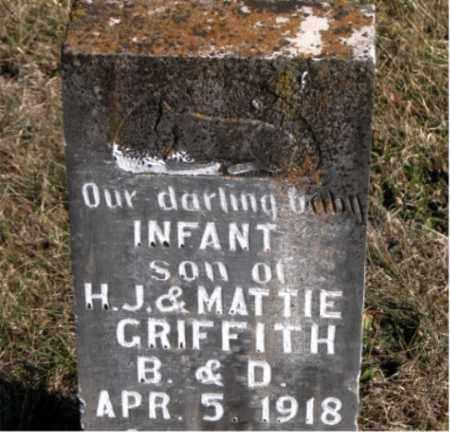 GRIFFITH, INFANT SON - Carroll County, Arkansas | INFANT SON GRIFFITH - Arkansas Gravestone Photos