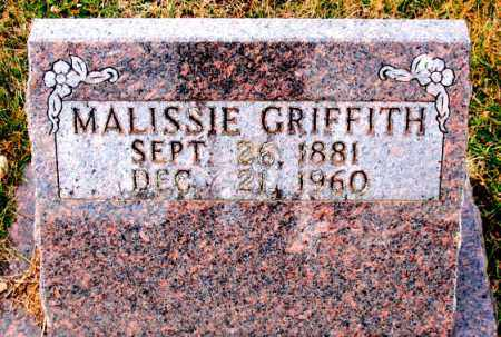 GRIFFITH, MALISSIE - Carroll County, Arkansas | MALISSIE GRIFFITH - Arkansas Gravestone Photos