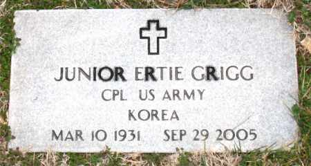 GRIGG (VETERAN KOR), JUNIOR ERTE - Carroll County, Arkansas | JUNIOR ERTE GRIGG (VETERAN KOR) - Arkansas Gravestone Photos