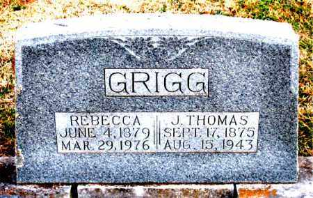 GRIGG, J. THOMAS - Carroll County, Arkansas | J. THOMAS GRIGG - Arkansas Gravestone Photos