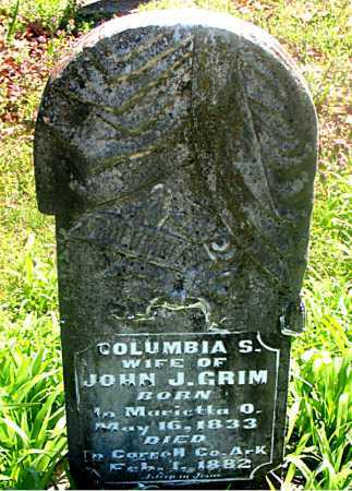 GRIM, COLUMBIA S - Carroll County, Arkansas | COLUMBIA S GRIM - Arkansas Gravestone Photos