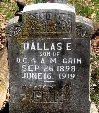 GRIM, DALLASE - Carroll County, Arkansas | DALLASE GRIM - Arkansas Gravestone Photos