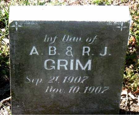 GRIM, INFANT DAUGHTER - Carroll County, Arkansas | INFANT DAUGHTER GRIM - Arkansas Gravestone Photos