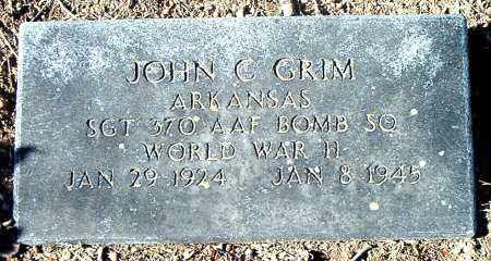 GRIM  (VETERAN WWII), JOHN C - Carroll County, Arkansas | JOHN C GRIM  (VETERAN WWII) - Arkansas Gravestone Photos