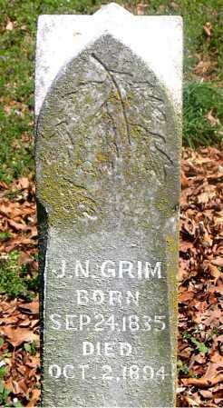 GRIM, J. N. - Carroll County, Arkansas | J. N. GRIM - Arkansas Gravestone Photos