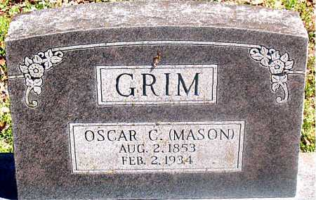 GRIM, OSCAR C. (MASON) - Carroll County, Arkansas | OSCAR C. (MASON) GRIM - Arkansas Gravestone Photos