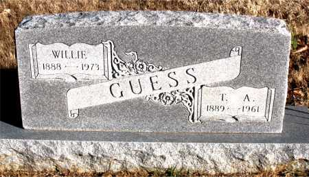 GUESS, WILLIE - Carroll County, Arkansas | WILLIE GUESS - Arkansas Gravestone Photos
