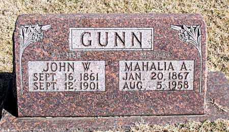 GUNN, JOHN W - Carroll County, Arkansas | JOHN W GUNN - Arkansas Gravestone Photos