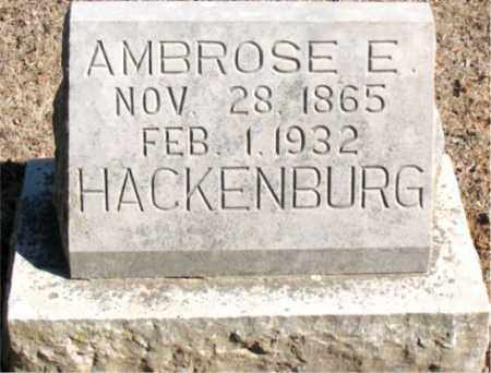 HACKENBURG, AMBROSE  E. - Carroll County, Arkansas | AMBROSE  E. HACKENBURG - Arkansas Gravestone Photos