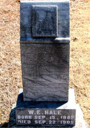 HALE, W. E. - Carroll County, Arkansas | W. E. HALE - Arkansas Gravestone Photos