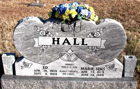 SIMS HALL, MARIE - Carroll County, Arkansas | MARIE SIMS HALL - Arkansas Gravestone Photos