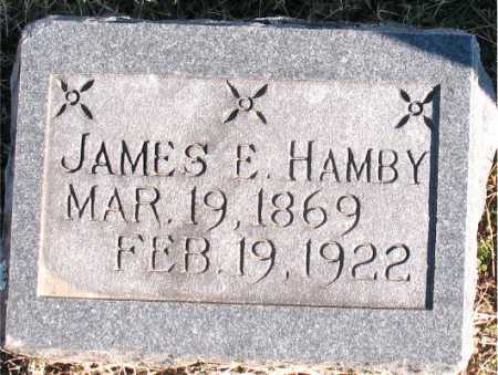 HAMBY, JAMES E. - Carroll County, Arkansas | JAMES E. HAMBY - Arkansas Gravestone Photos