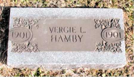 HAMBY, VERGIE L. - Carroll County, Arkansas | VERGIE L. HAMBY - Arkansas Gravestone Photos