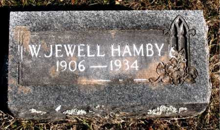 HAMBY, W. JEWELL - Carroll County, Arkansas | W. JEWELL HAMBY - Arkansas Gravestone Photos