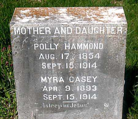 HAMMOND, POLLY - Carroll County, Arkansas | POLLY HAMMOND - Arkansas Gravestone Photos