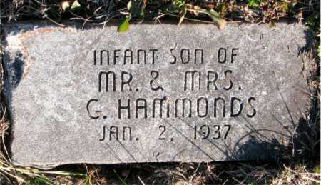 HAMMONDS, INFANT SON - Carroll County, Arkansas | INFANT SON HAMMONDS - Arkansas Gravestone Photos