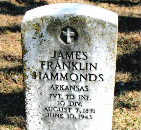 HAMMONDS (VETERAN), JAMES FRANKLIN - Carroll County, Arkansas | JAMES FRANKLIN HAMMONDS (VETERAN) - Arkansas Gravestone Photos