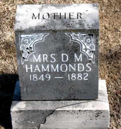 HAMMONDS, MRS., D. M. - Carroll County, Arkansas | D. M. HAMMONDS, MRS. - Arkansas Gravestone Photos