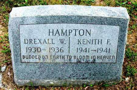 HAMPTON, DREXALL W - Carroll County, Arkansas | DREXALL W HAMPTON - Arkansas Gravestone Photos