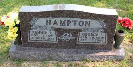 HAMPTON, GEORGE I - Carroll County, Arkansas | GEORGE I HAMPTON - Arkansas Gravestone Photos