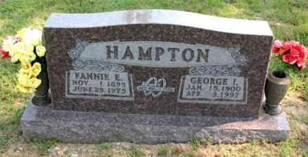 HAMPTON, FANNIE E - Carroll County, Arkansas | FANNIE E HAMPTON - Arkansas Gravestone Photos
