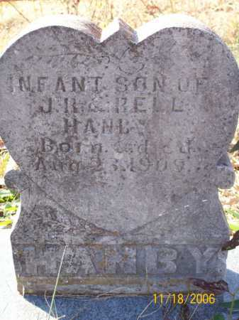 HANBY, INFANT SON - Carroll County, Arkansas | INFANT SON HANBY - Arkansas Gravestone Photos
