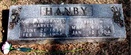 GRAVES HANBY, VIRGINIA - Carroll County, Arkansas | VIRGINIA GRAVES HANBY - Arkansas Gravestone Photos