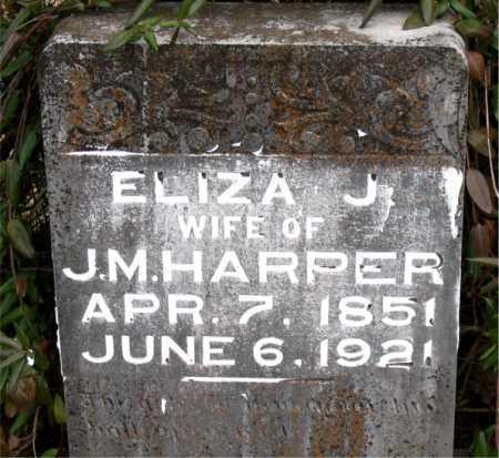 HARPER, ELIZA J. - Carroll County, Arkansas | ELIZA J. HARPER - Arkansas Gravestone Photos