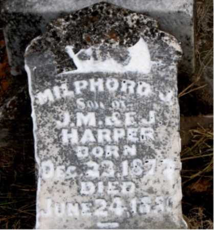 HARPER, MILPHORD J. - Carroll County, Arkansas | MILPHORD J. HARPER - Arkansas Gravestone Photos