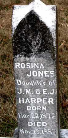JONES HARPER, ROSINA - Carroll County, Arkansas | ROSINA JONES HARPER - Arkansas Gravestone Photos