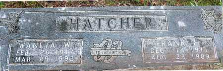 HATCHER, FRANK  E. - Carroll County, Arkansas | FRANK  E. HATCHER - Arkansas Gravestone Photos