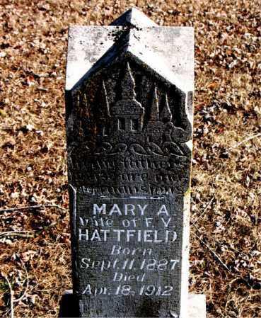 HATTFIELD, MARY A - Carroll County, Arkansas | MARY A HATTFIELD - Arkansas Gravestone Photos