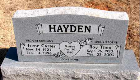 HAYDEN, ROY THEO - Carroll County, Arkansas | ROY THEO HAYDEN - Arkansas Gravestone Photos