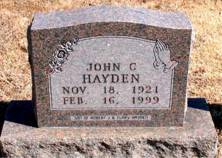 HAYDEN, JOHN C - Carroll County, Arkansas | JOHN C HAYDEN - Arkansas Gravestone Photos