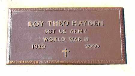 HAYDEN (VETERAN WWII), ROY THEO - Carroll County, Arkansas | ROY THEO HAYDEN (VETERAN WWII) - Arkansas Gravestone Photos