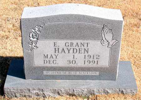 HAYDEN, R GRANT - Carroll County, Arkansas | R GRANT HAYDEN - Arkansas Gravestone Photos
