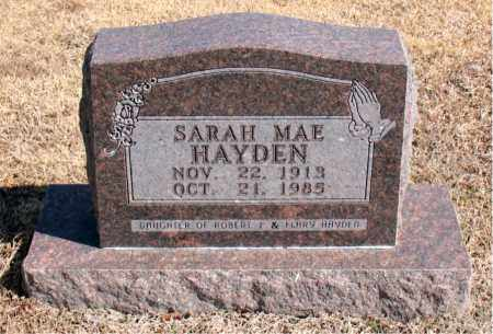 HAYDEN, SARAH MAE - Carroll County, Arkansas | SARAH MAE HAYDEN - Arkansas Gravestone Photos