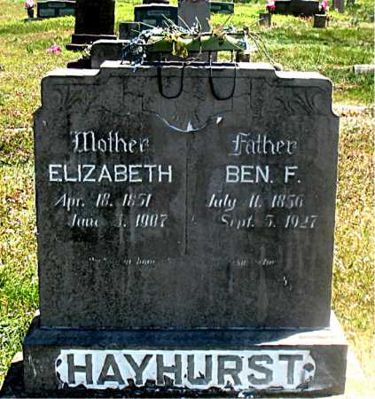 TABOR HAYHURST, MARY ELIZABETH - Carroll County, Arkansas | MARY ELIZABETH TABOR HAYHURST - Arkansas Gravestone Photos
